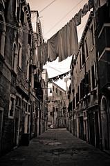 Venetian Street (adbettley) Tags: landscapes landscape bw blackandwhite texture land sky tones venice sepia italy street urban