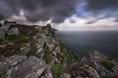 The Vally of the Rocks (Brad Discombe) Tags: ocean sea england sky cliff water rain skyline clouds canon landscape rocks long exposure north devon vally 10mm 100d nd10stop canonefs1018mm