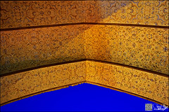 Shah Mosque (Poria) Tags: old sky art texture architecture persian arch iran top arc persia mosque minimal historic esfahan islamic isfahan architectual ancent
