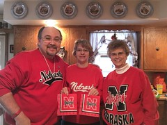 """Go Big Red"" 2015 Bowl Game gear 1 (cannellfan) Tags: me beckywurmclark judyclark huskers"