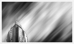 (fernandobrandaodebraga) Tags: burrardstreet vancouver panoramic reflection contrast daytime clouds bulding polarizerfilter ndfilter sigma60mm longexposure blackandwhite