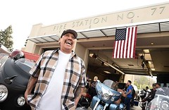 VCR Supporter and all around great guy, Danny Trejo, enjoying his time with our Veterans. #VCR2016 #MotorcycleTherapy #SupportOurVeterans Indian Motorcycle