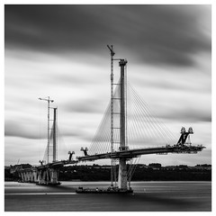 198/366 New Forth Crossing (Sarah*Rose) Tags: road new bridge construction edinburgh long exposure crossing forth firth