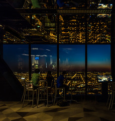 West View 360 Chicago Hancock Skyline 2016 Lauri Novak (LauriNovakPhotography) Tags: travel windows sunset people chicago skyline john cityscape tourists hancock 360chicago drinkandclick 360tripodmondays