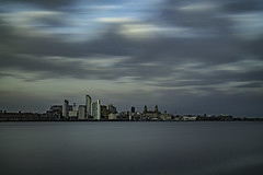 Liverpool Waterfront (ianandbarbara.bonnell@btinternet.com) Tags: uk longexposure england sky water skyline liverpool river cityscape waterfront mersey pierhead merseyside liverbuilding