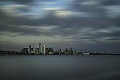 Liverpool Waterfront (ianandbarbara.bonnell@btinternet.com) Tags: uk longexposure england sky water skyline liverpool river cityscape waterfront mersey pierhead merseyside liverbuilding