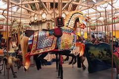 The beautiful Lincoln horse on Coney Island's B&B Carousell. (Kim Lofgren Photography) Tags: nyc carnival 1920s horse newyork brooklyn vintage coneyisland ride landmark carousel historic lincoln boardwalk amusementpark americana lunapark 1906 merrygoround 1909 carouselhorse bbcarousell illions