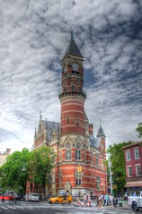 The Jefferson market library Greenwich village, NYC (jc1305us) Tags: nyc tower architecture manhattan clocktower neogothic hdr greenwichvillage nycarchitecture nationalregisterofhistoricplaces nyclibrary nyclandmarks ornatearchitecture
