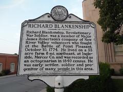 Richard Blankenship Historic Marker (jimmywayne) Tags: westvirginia princeton mercercounty historic marker richardblankenship