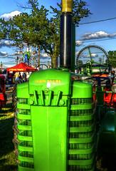 John Deere tractor (SteveMather) Tags: county ohio tractor john fairgrounds cleveland fair cuyahoga northeast deere berea 2015 photomatix smartphotoeditor