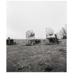 Diesel (GrisFroid) Tags: landscape rural tanks monaro cooma monochrome 120 film mediumformat bw mamiya rz67 ilford delta100