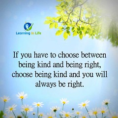 Being Kind and Being Right (learninginlife) Tags: right kind always choose