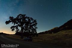 Central Coast Wander (Marsha Kirschbaum) Tags: california sky stars landscape centralcoast oaktree moonset wander ramble starrynight sanluisobispocounty subaruforester nightskies marshakirschbaum sonya7rii