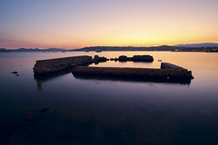 Sunset colors (fredMin) Tags: travel sunset long exposure mediterranean fuji fujifilm cote antibes dazur samyang xt1