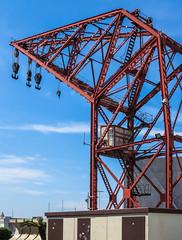 Crane - Port - Marina Area - Valencia (Canon PowerShot G1X) (1 of 1) (markdbaynham) Tags: valencia valencian port marina spain spainish espana es espanol city urban metropolis canon canonties powershot g1x creamtone crane structure