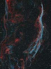 The Western Veil Nebula (Witch's Broom) (Astro Gabe) Tags: ngc6960 witchsbroom veilnebula nebula emissionnebula stars halpha oiii supernovaremnant space tmb130ss mach1 qsi astrometrydotnet:id=nova1655875 astrometrydotnet:status=solved