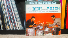Rich vs Roach by Buddy Rich and Max Roach (johnnytreehouse) Tags: buddy rich max roach drumming drummers percussionists jazz greatness lp vinyl record album music collection