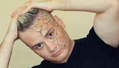 meOnWall (ArminAreMean) Tags: portrait texture cracking face