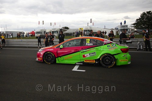 Mike Epps' car during the Grid Walks at the BTCC 2016 Weekend at Snetterton
