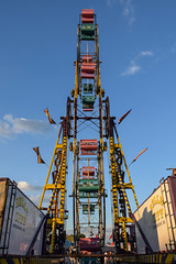 Sky Wheel (tim.perdue) Tags: ohio state fair 2016 summer exposition center columbus street candid colorful multicolored midway carnival sky wheel ferris double ride belle city kiddieland