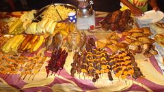 Night Market Food, Forodhani Gardens, Stone Town, Zanzibar, Tanzania (dannymfoster) Tags: africa tanzania zanzibar stonetown forodhanigardens nightmarket food fish skewers