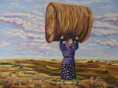 You Go Girl ... (Mr. Happy Face - Peace :)) Tags: art2016 artiste drawing painting acrylics harvest original flickerfriends passion countryside hayland rottobale strength woman brushstrokes pastels clouds patriciabechthold quotes intuitivereflexions folkart womanpower gogirl
