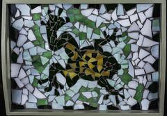 Tray With Frog Mosaic (Bill Gracey) Tags: mosaic frog patterns artistic maria art ceramic offcameraflash softbox yn560iii yongnuorf603n homestudio tabletopphotography creation colorful