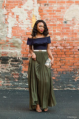 Wedding Guest Outfit: Pleated Maxi Skirt by Louisa M., Fashion Blogger from Alaska, United States (9lookbook.com) Tags: africa african alaska applebottoms armygreen asos avantgarde basic beaded black blogger blue burntorange career casual chic chicwear classic crop croptop curly downtown dress elegant embellished fashion fashionblogger fauxfur full girl green grey hair lifestyle maxi minimal multicolor multicolored nigerian offshoulder ootd orange outfit pearl petite pleated pleatedskirt romantic ruffle sexy skirt spring springfashion springlook springtrends stilettos street streetstyle suit summer wedding white yellow missguided shoedazzle