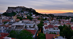 Sunset on the Acropolis, Athens (Alona Azaria) Tags: athens plaka hill sun sunset view 2470mmf28 nikkor nikon nikond800 greece