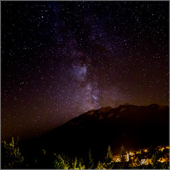 43/52 : Milky way nearby Serre Chevalier (les Guibertes) (Herv Marchand) Tags: france hautesalpes serrechevalier guibertes sky milkyway voie lacte poselongue nuit night canoneos7d