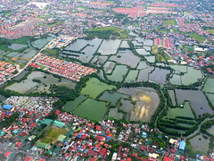 The Ponds (stardex) Tags: philippines pond aerial village manila building house