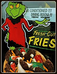 Air Conditioned!!! Dining Room!! Fresh-Cut Fries (Will S.) Tags: mypics novadeli belleville ontario canada maritimes maritimeprovinces themaritimes donair donairs mrgrinch grinch seuss drseuss