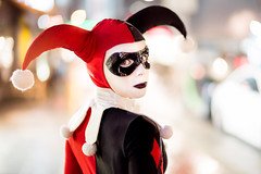 Harley Quinn (Bastian.K) Tags: cosplay harley quinn harleen quinzel batman animated series zhong yi mitakon speedmaster dark knight darkknight margot robbie joker 50mm 095 sony a7s ilce7s stuttgart city light citylights bokeh portrait portraiture dress dressing dressup town ligh