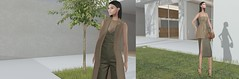 Modern Fashion (Roxy Olsonne) Tags: fashion ison x rowne infashion modern fashionforward slfashionblogger simple chic structured glam loveit luxury clutch pesudo littlebone vest skirt green clean
