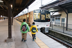 Express To Fukuoka (camike) Tags: 24120mmf4gvr d750 japan stations sunset trains walking