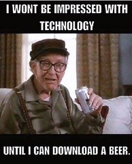 \m/ (KG5JTI) Tags: grumpy old men burgess meredith technology download beer brew