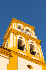 Church tower in Marbella old city (TimOve) Tags: vacation ferie trip summer sommer churchtower marbella spain spania oldcity clock