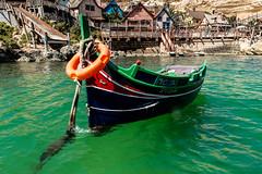 Boat (petia.balabanova(tnx for +1.500.000 views)) Tags: boat malta popeye village sea water colours houses travel nikond800 2470mm summer