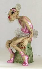 Gran in tutu (HeatherSweetMoon.com) Tags: character clay gran lady ballet dancer old tutu
