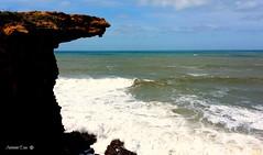 Erosão marinha (EXPLORE #182) (antoninodias13) Tags: praia portugal água mar lisboa samsung galaxy nuvens oceanoatlântico maresia mafra rochas sãolourenço ventos erosão marés recortadas imensidão mariscar costaportuguesa antoninodias