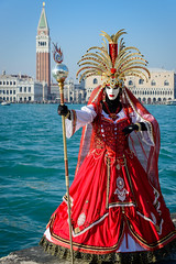 Venice, mask (aikibassoon) Tags: carnival venice nikon mask campanile venedig dogespalace d800