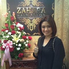 Thankyou Thai Celebrity Khun Katen ~ ต้องขอขอบคุณคุณกระเต็น พิธีกรรายการคุยข่าวเช้าทางช่อง 3 มากนะครับที่มาใช้บริการที่ร้าน Zahara Salon Suk13 ของเราและได้ทำQOD Brazilian Kertin จากทางร้านอีกด้วย ติดตามผลงานของคุณกระเต็นได้ทางช่อง3 หากใครที่ต้องการมีผมสวย