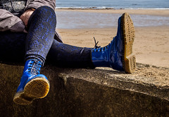 Dr Marten Blue Patent Leather, 1460. (CWhatPhotos) Tags: pictures camera blue shadow leather electric that four photography boot coast sand foto hole image boots artistic pics dr yorkshire north picture 8 pic olympus images have photographs photograph fotos scarborough marten which dm docs contain airwair thirds yorks martens patent dms 1460 1460s cwhatphotos