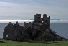 Dunure Castle (cmax211) Tags: sea castle fog scotland bank isle arran ayrshire infocus dunure highquality