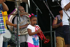 Sariah Jones and Rebirth Brass Band at French Quarter Fest 2015, Day 1, Thursday, April 9