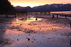 IMG_3062 (Jenniiferr) Tags: sunset reflection nature water tahoe laketahoe southlaketahoe