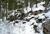 Icicles on a snowy precipice in spruce forest at the SE corner of Lake Vaakkoi (Vihti, 20120115) (RainoL) Tags: winter snow forest finland geotagged january v icicle fin precipice 2012 uusimaa vihti vichtis vaakkoi 201201 20120115 geo:lat=6033809500 geo:lon=2460543100