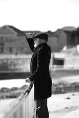 87 - The search (Smart_AlphaZ) Tags: blackandwhite bw beach portugal monochrome photography spring noir streetphotography oldman smartphone colorless addiction cascais bnw greyscale greyworld nocolor whitebeard colorlessworld 365dayschallenge monochromeworld bwsociety 2015project