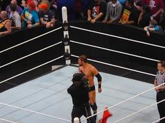 Looking up the Ramp (earthdog) Tags: lumix raw wrestling sanjose ring panasonic wwe 2015 prowrestling sharktank curtisaxel sapcenter dmczs40 panasonicdmczs40 axelmania