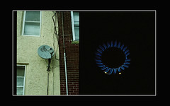 (me666) Tags: camera blue windows film by pen 35mm fire gold dish kodak satellite content olympus gas flame stove wires f 400 ft asa halfframe expired orginal anaolg matthewashby olympuspenfft